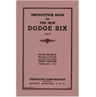 New re-print of the original Chrysler Corp. glovebox owner/operator manual available for all 1936 Dodge D2