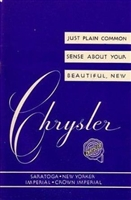 Factory Owner's Manual for 1951-1952 Chrysler 8-Cyl