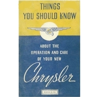 Owner's Manual for 1937 Chrysler Imperial
