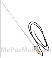 Show-quality radio antenna and mount for all 1966 Plymouth and Dodge A-Body
