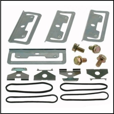 16-piece disc brake pad retaining hardware kit for all 1974-76 Plymouth Duster - Scamp - Valiant and all 1974-76 Dodge Dart - Sport