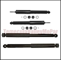 Matched shock absorber package for all 1970-74 Plymouth Duster - Scamp - Valiant and all 1970-74 Dodge Dart -Demon - Sport