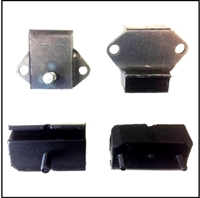 Front and rear engine mounts for 1966-68 Dodge D-100/D-200 trucks with 225 CID and 4-speed transmission