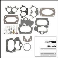 Stromberg carburetor rebuild kit for the following with 273 and 318 CID engine: 1960-66 Plymouth Barracuda - Belvedere - Fury - Savoy - Valiant; 1960-66 Dodge Coronet - Dart - Monaco - Polara - 330 - 440; 1960-66 Dodge Trucks