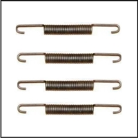 (4) new brake shoe shoe return springs for all 1941-42 Dodge passenger cars and all 1941-42 DeSoto - Chrysler