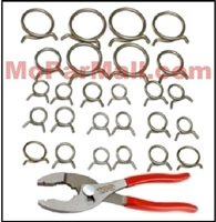 25-piece set of factory assembly line type hose clamp for all 1955-76 Chrysler Corp vehicles