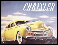 Original Prestige Sales Brochure for 1941 Chrysler