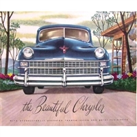 12-page showroom sales catalog for the 1947 Chrysler New Yorker - Royal - Town/Country - Windsor