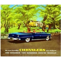 "11""x 9.5"" 12-page showroom sales catalog for 1953 Chrysler Windsor"