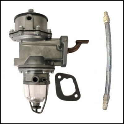 "These ""double-action"" fuel pumps were a rare but practical option for 1939-50 Plymouth - Dodge - DeSoto with vacuum windshield wipers"