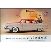 Oversized 20-page showroom sales catalog for all 1956 Dodge Coronet - Custom Royal - Royal - Sierra