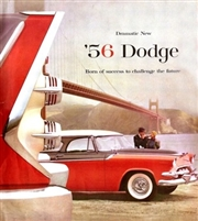 "12""x 13"" 8-page showroom sales catalog for all 1956 Dodge Coronet - Custom Royal - Royal - Sierra"