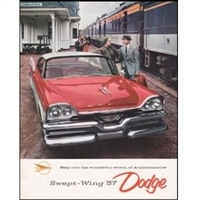 Large Original Sales Brochure for 1957 Dodge