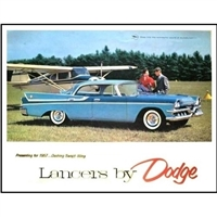 8-page showroom sales catalog for 1957 Dodge hardtops and convertibles