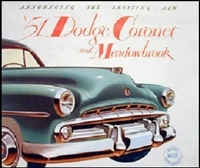 Sales Brochure for 1951 Dodge Coronet - Meadowbrook