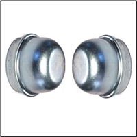 Set of (2) front brake drum bearing dust caps for all 1955-59 Plymouth - Dodge - DeSoto - Chrysler