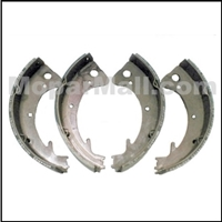 Set of (4) relined bonded brake shoes for all 1960-61 Plymouth and Dodge B-Body