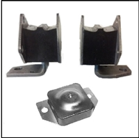 Set of right and left engine mounts and transmission mount for all 1962 MoPar C-Body