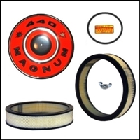 Air cleaner detail set for 1967-71 Plymouth Belvedere - GTX - RoadRunner - Satellite and Dodge Charger - Coronet with 383/440 engine and four-barrel carburetor