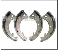 Set of (4) relined bonded Total-Contact brake shoes for all 1960-62 Dodge 880 - DeSoto - Chrysler - Imperial