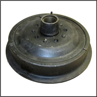 "Front brake drum/hub assembly for 1955-56 Plymouth Belvedere - Fury - Plaza - Savoy - Suburban with 11"" (for 2' wide shoes) front brakes"