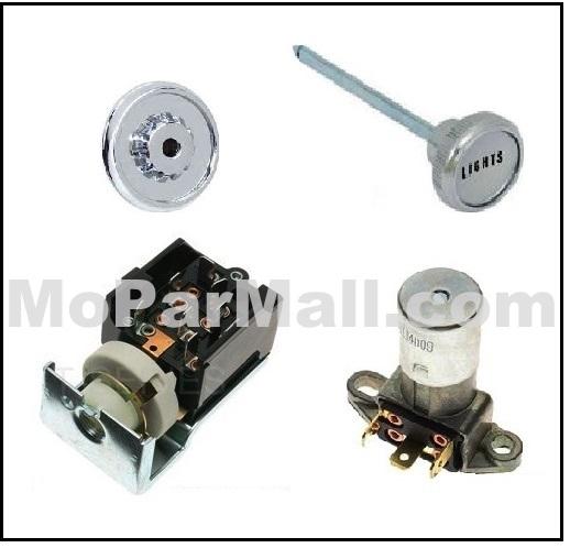 66 67 Charger Coronet Headlight Switch Knob Bezel-NEW