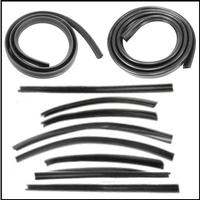 10-pc Convertible Top Weatherstrip Set for 1949-1952 Plymouth - Dodge - DeSoto - Chrysler