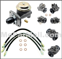 10-piece brake hydraulics set for all 1960-61 Plymouth Belvedere - Fury - Savoy - Sport Fury - Suburban and all 1960-61 Dodge Dart - Polara