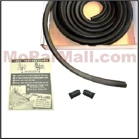 NEW 1957 1958 1959 Desoto Chrysler Imperial Plymouth Trunk Seal Weatherstrip
