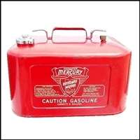 Set (2) decals for 1954-68 Evinrude, Gale, Johnson and Mercury 6-gallon portable gas tanks