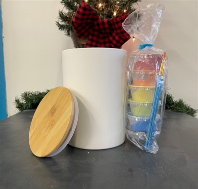 Bamboo Lid Cannister $28