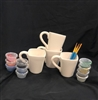Square Mugs 4 Pack $50