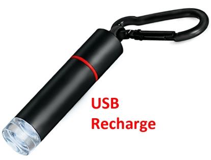 Usb Rechargeable L E D Pocket Size Flashlight Travel Mini High Sierra Laptop Friendly Light White Torch