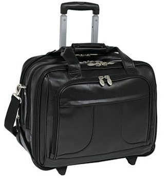 Leather Goldcoast Detachable Wheeled Laptop Case Mcklein
