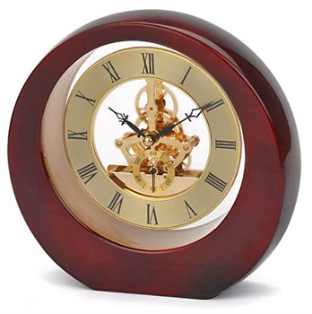 Eclipse Rosewood Skeleton Mantle Clock