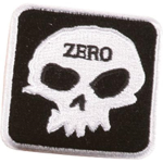 Zero Square Skull - Black/White - Patch