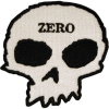 Zero Die Cut Skull - White/Black - Patch