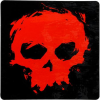 Zero Blood Skull - Black/Red - Sticker