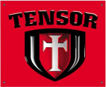 Tensor Shield Logo Banner - Red/Black - 36in x 30in - Skate Banner