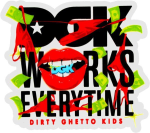 DGK Works Everytime Decal - Multi - Stickers