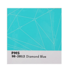 Diamond Pantone Decal - Blue - Sticker