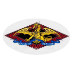 Powell Golden Dragon - White - Sticker