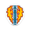 Bones Brigade Guerrero Dagger Sticker - Orange/Blue/White - Sticker