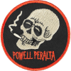 Powell Peralta Smoking Skull 2.5in - Black/Red - Patch