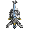 Powell Peralta Skull and Sword - Multi - Lapel Pin