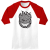 Spitfire Tripped Out 3/4 Sleeve - White/Red - Men's T-Shirt