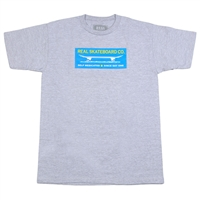 Real SDO Block S/S - Athletic Heather/Blue - Men's T-Shirt