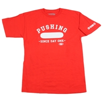 Real Pushing S/S - Red/White - Men's T-Shirt