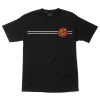Santa Cruz Classic Dot Regular S/S - Black - Mens T-Shirt