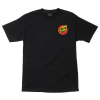 Santa Cruz Flaming Dot Regular S/S - Black - Men's T-Shirt